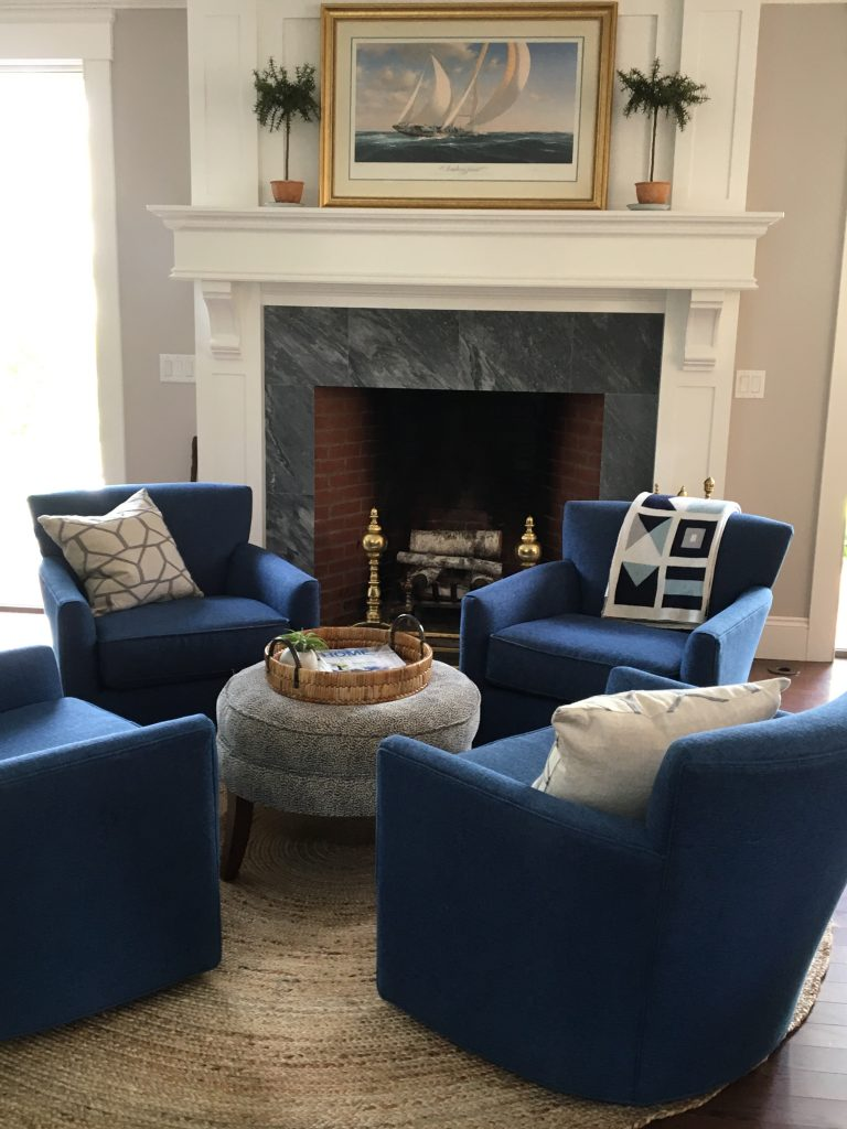 Blue Swivel Chairs